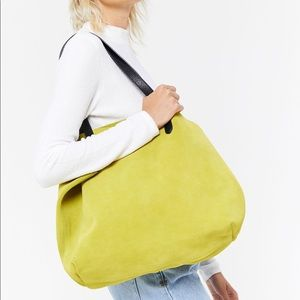 UO Chloe Oversized Tote Bag Chartreuse
